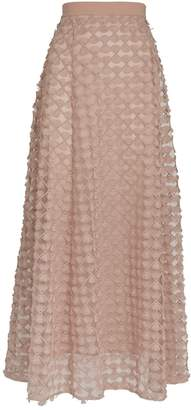 D-Exterior D.Exterior Applique Detail Midi Skirt