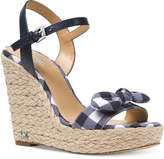 MICHAEL Michael Kors Pippa Gingham Espadrille Wedge Sandals, Created for Macy's
