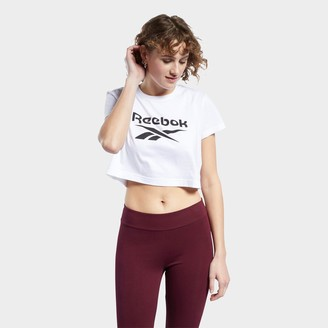 Reebok Women's Classics Big Logo Crop T-Shirt