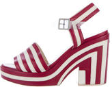 Chanel Stripe Platform Sandals