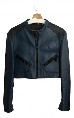 Louis Vuitton Blue Leather Jackets