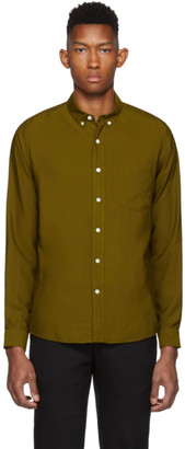 Ami Alexandre Mattiussi Brown Button-Down Shirt