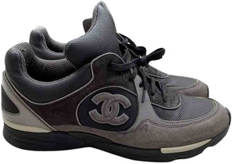 Chanel Grey Suede Trainers