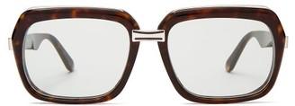 Celine Oversized Square Acetate Sunglasses - Dark Brown