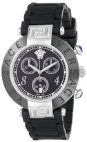 Versace Women's 92CCS91D008 S009 Reve Black Ceramic Stainless Steel Chronograph Watch With Black Rubber Band