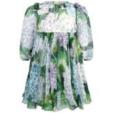 Dolce & Gabbana Dolce & GabbanaBaby Girls Green Hydrangea Dress With Knickers