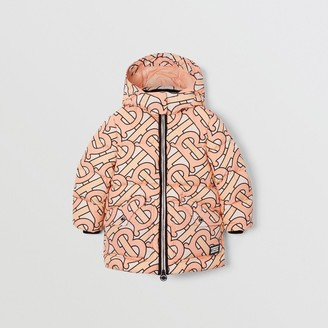 Burberry Childrens Monogram Print Puffer Coat