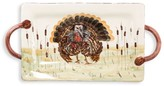 Vietri Wildlife Turkey Handled Rectangular Platter