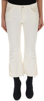 Alexander McQueen Flared Cropped Jeans