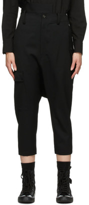 Regulation Yohji Yamamoto Black Slim Cargo Sarouel Trousers