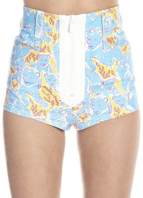 Miu Miu Panther Printed Shorts