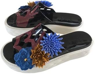 Kartell Black Plastic Sandals