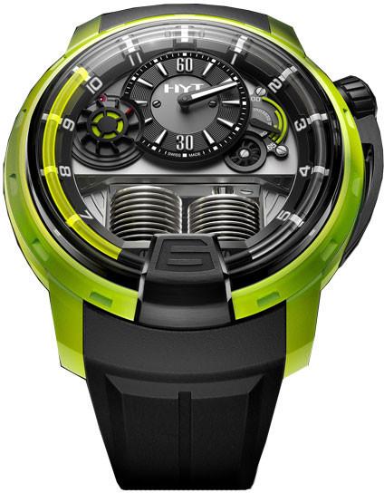 Chopard H1 Azo Polyepoxyde Black Dial Black Rubber Men's Watch