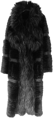 Sonia Rykiel Black Raccoon Coat for Women