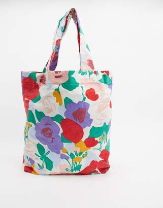 Faithfull The Brand Faithfull floral corduroy travel tote bag in floral print-Multi