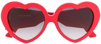 Balenciaga Eyewear Susi heart sunglasses