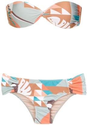 Adriana Degreas Tropiques bandeau bikini set