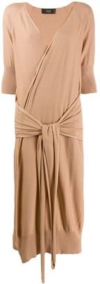 Maison Flaneur tie waist dress