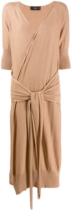 Maison Flaneur Tie Waist Dress
