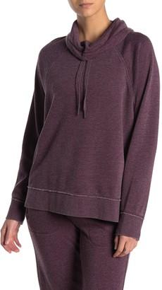 Calvin Klein Drawstring Cowl Neck Fleece Pullover