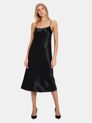 Vince Satin Slip Midi Dress