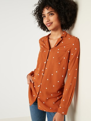 Old Navy Relaxed Polka-Dot Utility Shirt for Women