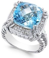 Macy's Blue Topaz (7 ct. t.w.) & Diamond Accent Ring in Sterling Silver