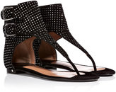 Laurence Dacade Studded Suede Sandals