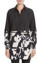Fuzzi Women's Cotton Poplin & Print Crepe Tunic