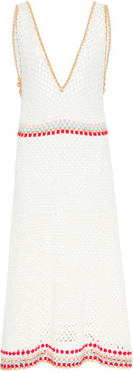 MY BEACHY SIDE Crocheted Cotton Midi Dress