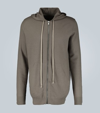Rick Owens Zipped cashmere hooded top