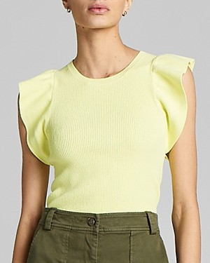 A.L.C. Holley Ruffle-Sleeve Top
