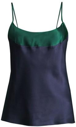 Ginia Silk Colorblock Camisole Top