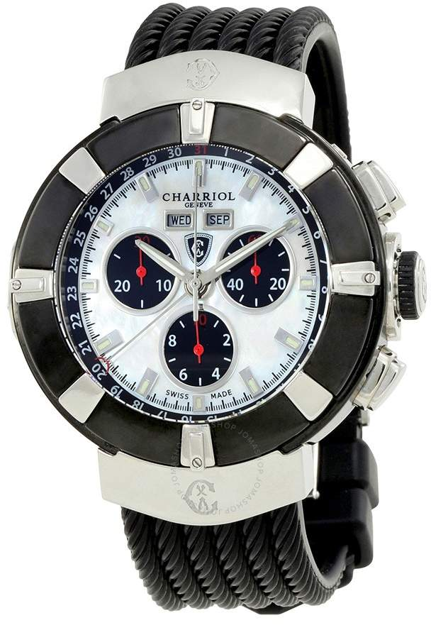 Charriol Celtica Mother of Pearl Dial Chronograph Men's Watch