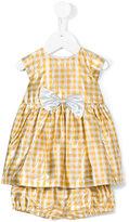 Hucklebones London - gingham lamé dress - kids - Silk/Lurex - 6 mth