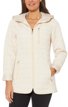 Jones New York Petites Jones New York Petite Water-Resistant Hooded Quilted Jacket