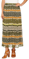 Moss Stripe Crinkle Maxi Skirt - Plus Too