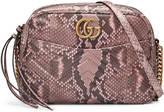 Gucci GG Marmont matelassé python shoulder bag
