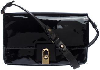 Lanvin Black Patent Leather Shoulder Bag