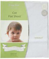 Bubba Blue Everyday Basic Cot Flat Sheet, Satin White