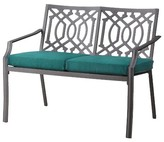 Threshold Harper Metal Patio Garden Bench with Cushions