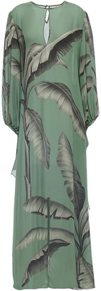 Johanna Ortiz Printed Silk-crepe Maxi Dress
