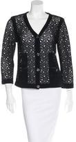 Chanel Open Knit V-Neck Cardigan