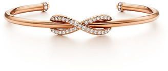 Tiffany & Co. Infinity cuff in 18k rose gold with diamonds, medium