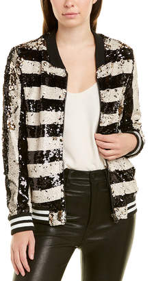 DOLCE CABO Sequin Bomber Jacket