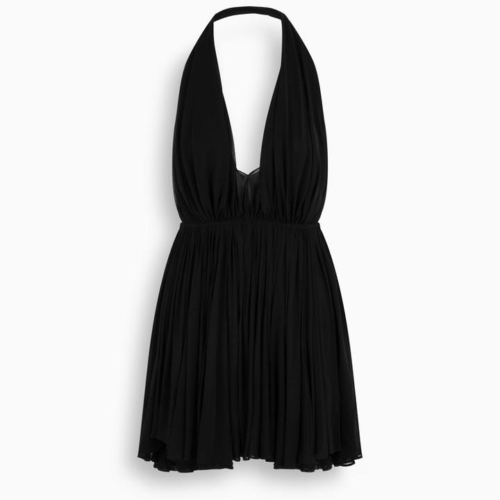 Saint Laurent Black halterneck mini dress