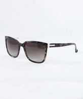 Calvin Klein Havana White & Brown Gradient Cat-Eye Sunglasses - Women