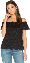 Rebecca Taylor Off Shoulder Lace Top