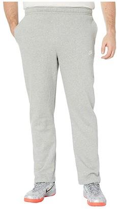 Nike Big Tall NSW Club Pants Open Hem (Dark Grey Heather/Matte Silver/White) Men's Casual Pants