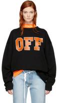 Off-White Black off Sweatshirt
